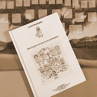 Visuel du livret généalogique pour les enfants