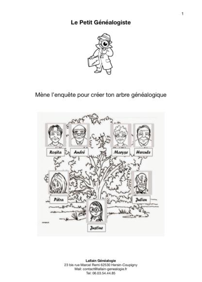 Couverture du Livret Généalogie